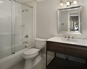Картинка Интерьер Дизайна Туалете Ванная Зеркал