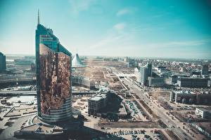 Фотографии Казахстан Дома Небоскребы Nur-Sultan, Transport Tower город