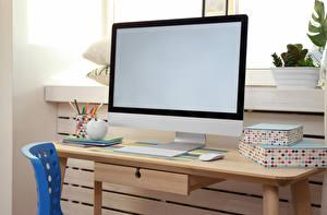 Картинки Клавиатура Компьютерная мышь Стол Монитора