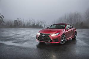 Картинка Лексус Красный 2019 RC F автомобиль