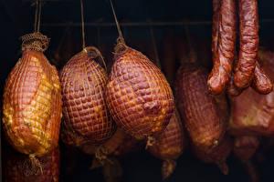 Картинки Мясные продукты Колбаса Ветчина Пища