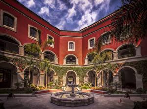 Фото Мексика Дома Фонтаны Гостиница Rosewood Hotel in San Miguel de Allende