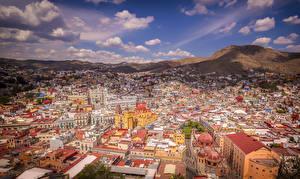 Картинки Мексика Дома Холмы Крыша Guanajuato город