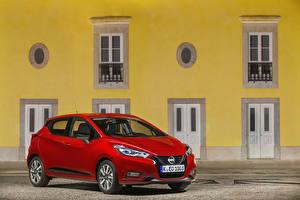 Обои для рабочего стола Ниссан Красные 2019 Micra Worldwide авто