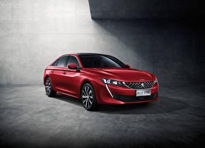 Обои Peugeot Красный 2018-19 508L GT Автомобили