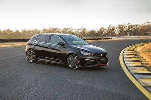 Картинка Peugeot Черные Металлик 2019 308 GTi Sport машины
