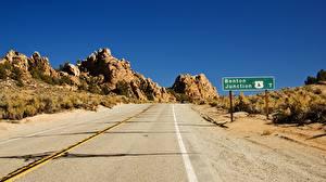 Обои Дороги США Асфальт Калифорния Природа