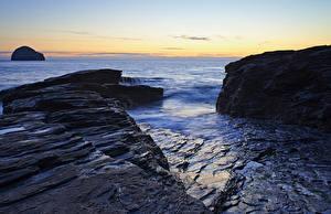 Фотографии Море Берег Скала Природа