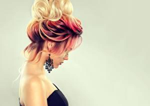 Картинки Волосы Цветной фон Серег Причёска Sofia Zhuravets Девушки
