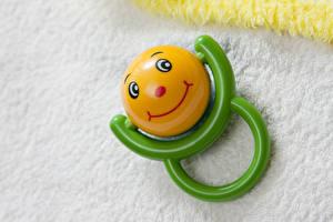 Фотография Игрушки Крупным планом Улыбается Шарики Baby rattle