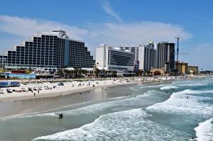Фото США Побережье Курорты Флорида Пляже Daytona beach Города