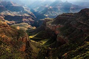 Фото Америка Гранд-Каньон парк Парки Горы Каньон Природа