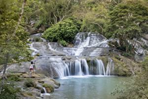 Картинка Вьетнам Камень Водопады Фотограф province lang son Природа