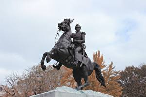 Фотографии Вашингтон город Памятники Лошади Штаты district of Columbia, Lafayette Square