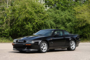 Картинки Астон мартин Черных Металлик 1999-2000 V8 Vantage Le Mans V600 LHD Автомобили