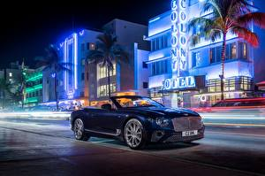 Фотографии Бентли Кабриолета Ночь Continental GT Convertible V8 2019 Автомобили