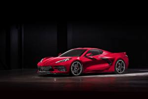 Фото Chevrolet Красный 2020 Corvette C8 Stingray машина