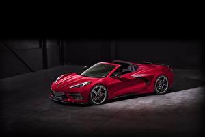 Фото Шевроле Родстер Красные 2020 Corvette C8 Stingray автомобиль