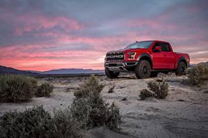 Фото Форд Пикап кузов Красный F-150 Raptor авто