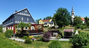Обои Германия Дома Особняк Поселок Wehrsdorf