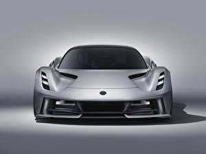 Картинка Lotus Спереди Серебряная Evija машина