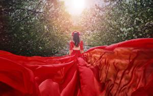 Фотографии Платья Красные Сзади Malika Drobot девушка