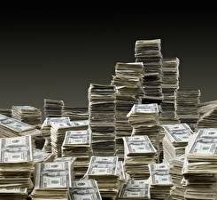 Фотографии Деньги Банкноты Доллары Много