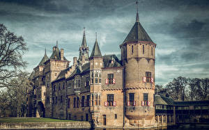 Обои Нидерланды Замок HDRI De Haar Castle