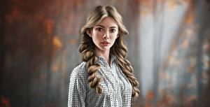 Обои Рисованные Волос Прически Смотрят Боке by Jinsung Lim молодая женщина