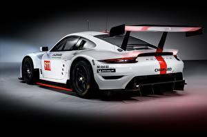 Обои Porsche Тюнинг Белый Сзади 911 RSR 2019 Автомобили картинки