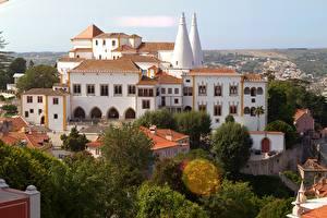 Обои Португалия Дворец Paleis van Sintra Города картинки