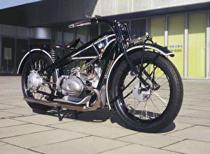 Фотография Ретро BMW - Мотоциклы Черный 1928-30 R 63 мотоцикл