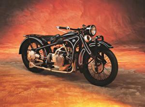 Фотографии Старинные BMW - Мотоциклы Черный 1929-35 R 11 Мотоциклы
