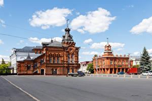 Картинка Россия Дома Городская площадь Vladimir City Duma Города