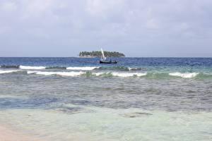 Обои Море Волны Лодки Остров Panama, San Blas Islands Природа