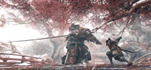 Обои Sekiro: Shadows Die Twice Самурай С мечом Драка Ниндзя Игры