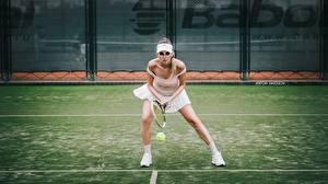 Фотографии Теннис Ног Спереди Katrin Sarkozy, Anton Harisov Спорт Девушки