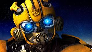 Картинки Трансформеры Головы Роботы Bumblebee movies Фильмы