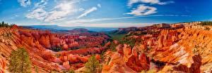 Обои США Небо Пейзаж Парки Утес Bryce Canyon National Park Природа