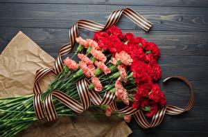 Картинки День Победы Гвоздики Букет Лента цветок
