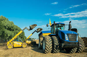 Картинка Сельскохозяйственная техника Трактора Ковшовый погрузчик New Holland LM732 New Holland T9.615