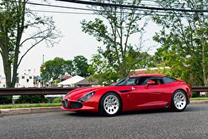 Картинки Альфа ромео Красных 2011-2013 TZ3 Stradale Zagato машина
