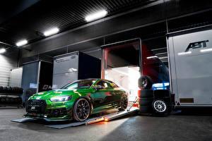 Фотографии Audi Стайлинг Зеленая Купе 2018 ABT RS 5-R Coupe