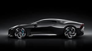 Фотографии BUGATTI Сбоку Черные Черный фон La Voiture Noire автомобиль