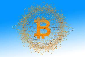 Фотографии Биткоин Деньги Монеты 3D Графика