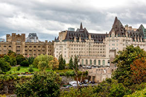Фото Канада Дома Гостиница Chateau Laurier город