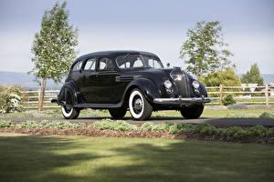 Фотография Крайслер Ретро Черных Металлик 1936 Imperial Airflow Sedan машины