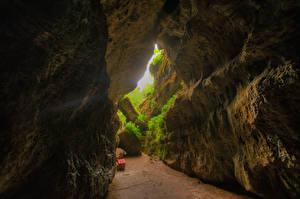 Фотографии Германия Бавария Пещере Природа