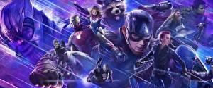 Фото Супергерои Капитан Америка герой Железный человек герой Avengers: Endgame кино