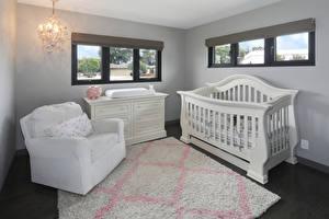 Обои Интерьер Детская комната Дизайна Кровати Кресло